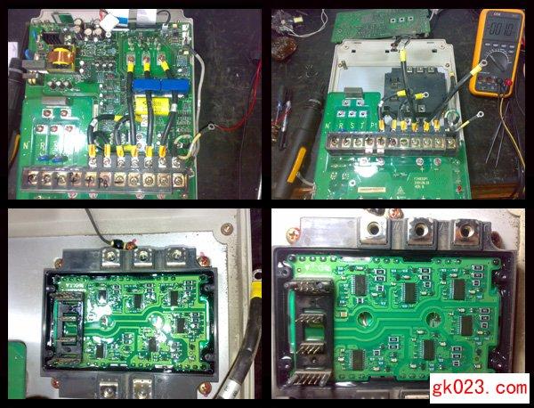 重庆渝成自动化技术有限公司专业提供Emerson艾默生系列:EV1000,EV2000,EV3000,EV3100,EV3200,TD变频器,TD1000,TD2100,TD3200系列专用变频器的维修服务,西南地区均可提供现场技术服务。维修热线:4000 666 284。客服电话:023-68551681。联系人:崔先生、吴女士。 案例一: 重庆市綦江齿轮厂自动打齿机3.